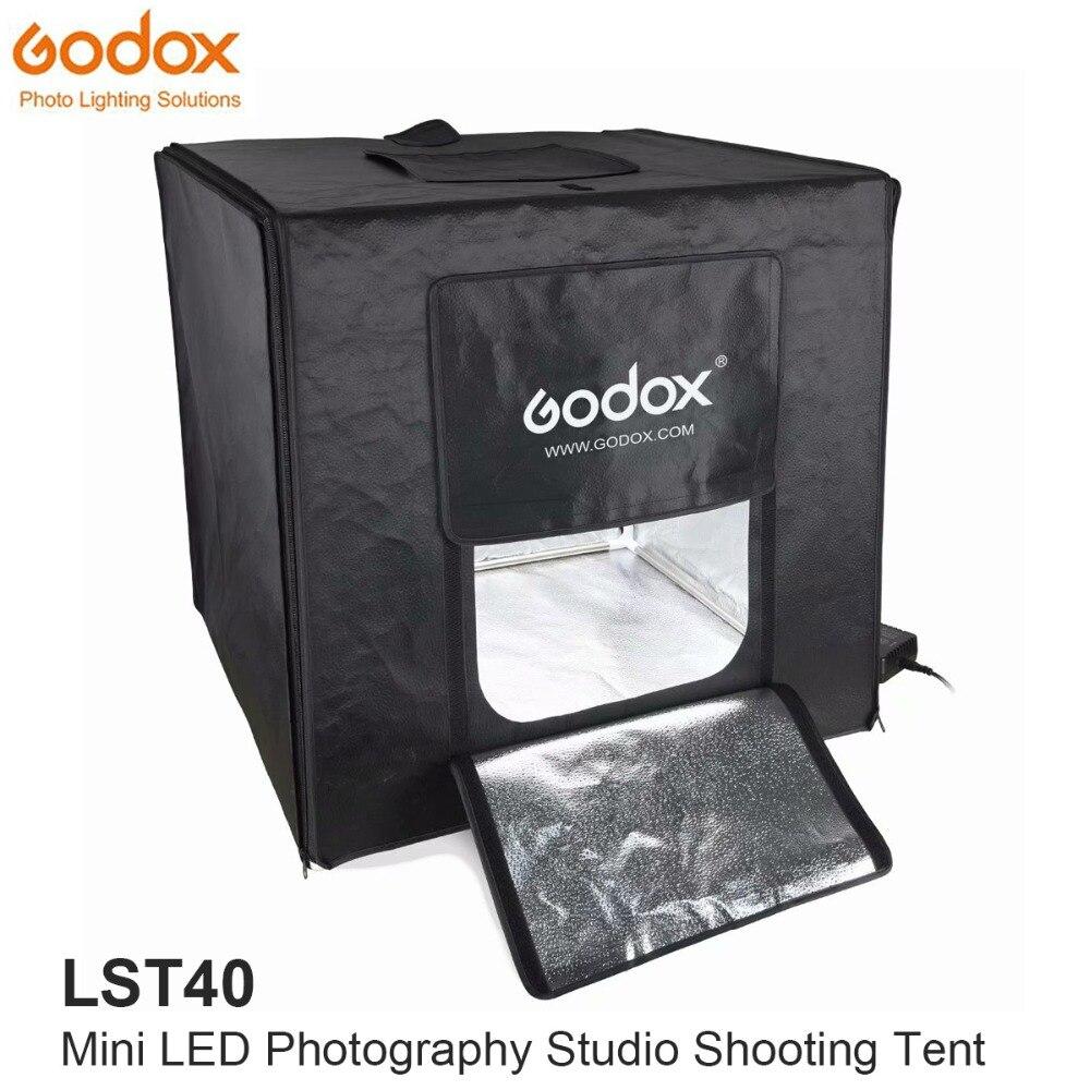Godox Mini LED Estúdio de Fotografia Tiro Tenda 40*40*40 cm LST40 3 pcs banda LIDERADA lâmpada de Energia 60 w 13500 ~ 14500 Lumen com Carreg o Saco