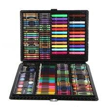 168個セットアート水彩ブラシギフトボックスブラシ絵画文房具セット用子供知育玩具