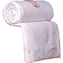 Three colors mulberry silk comforter bedspreads Quilted blanket summer&winter king queen full twin size duvet bedclothes set