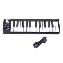 На выбор Easykey.25 миди клавиатуры мини 25-ключ MIDI контроллер клавиатуры USB MIDI контроллер электронного фортепиано клавиатура