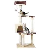 Domestic Delivery Cat Climbing Frame Pet Furniture Cat Toy House Hanging Ball Wood Bed Toy Pet