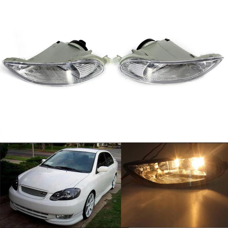 1 Pair Front Fog Bumper Lights w/ Bulb for Toyota Camry 02-04 Corolla 05-08 Car Styling LED Fog Lights High Brightness Promotion car styling fog lights for toyota camry 2012 2014 pair of 12v 55w front fog lights bumper lamps daytime running lights