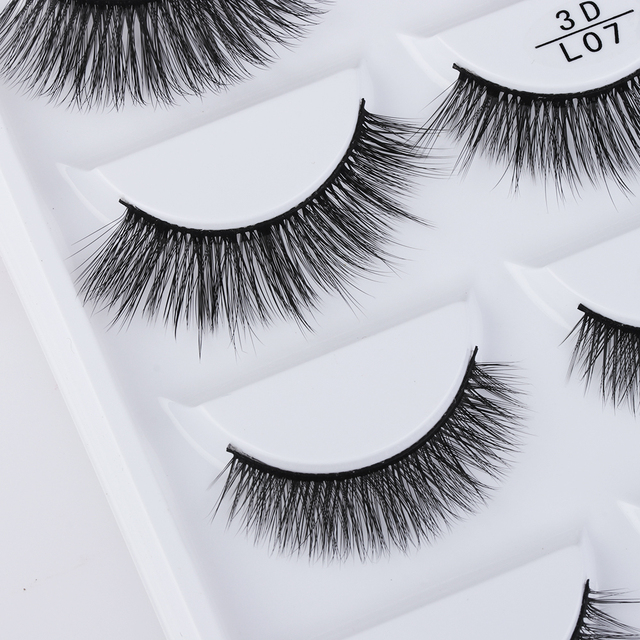 035403b3a89 5 Pairs Multipack 3D Soft Mink Hair False Eyelashes Wispy Fluffy Long Lashes  Natural Eye Makeup Faux Eye Lashes