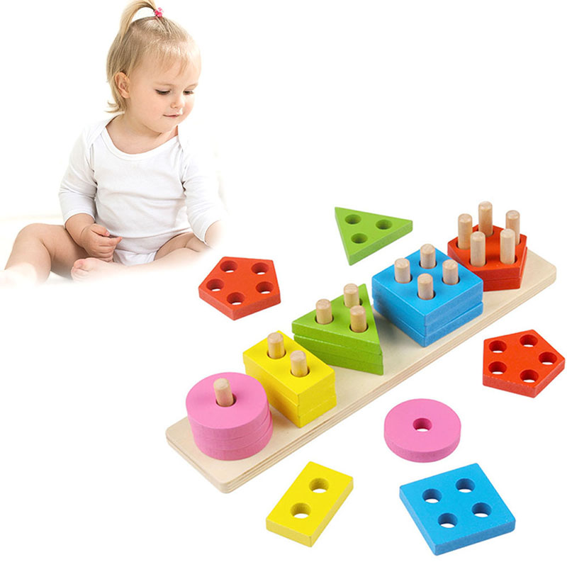 Wooden Educational Preschool Toddler Toys for Boys Girls ...