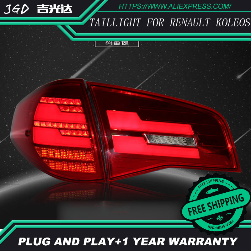 Car Styling tail lights for Renault koleos LED Tail Lamp rear trunk lamp cover drl+signal+brake+reverse car styling tail lights for toyota prado 2011 2012 2013 led tail lamp rear trunk lamp cover drl signal brake reverse