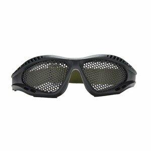 Image 3 - חיצוני שחור טקטי CS איירסופט פיינטבול מתכת Mesh Goggle עיניים מגן משקפיים חיצוני ספורט Eyewear סיטונאי