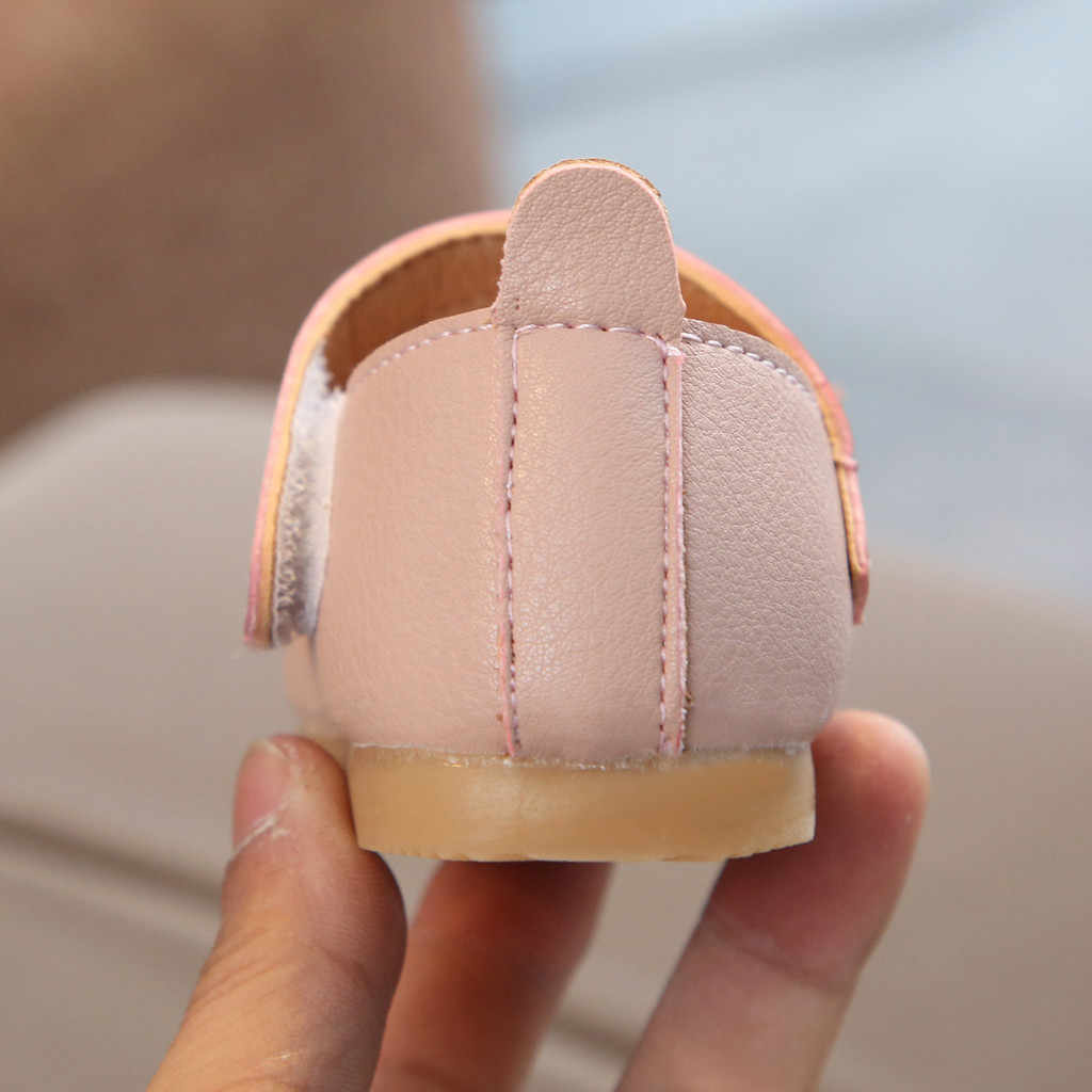 SAGACE Princess รองเท้าเด็กรองเท้าหนังเด็กเจ้าหญิงเดี่ยวรองเท้าผู้หญิง Casual ตื้น Pearl ฟิตเนสทารกหญิงรองเท้า