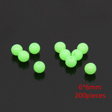 200pc Glowing Fishing Floats Light Olva/Round beads Luminous Buoy Accessories Bulk Flotteur For Night Fishing Carp Fishing Beads
