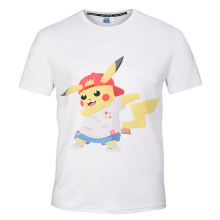 Mr.1991INC&Miss.GO New Mens Clothing T-Shirt Trend Casual Slim  Cartoon Pokemon Print O-neck Cotton Summer T Shirt Men's T-shirt