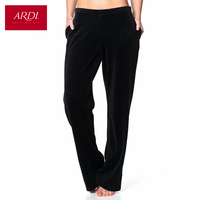 Home women pants in soft velour on a knitted base R2413 57