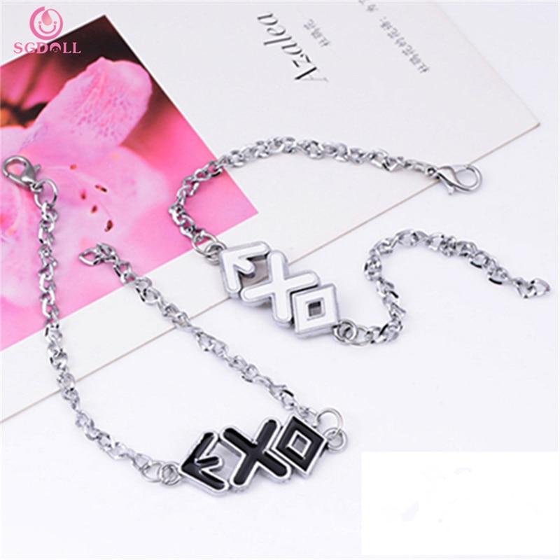 Kpop EXO Growl Miracles In December BAEK HYUN Park Chan Yeol D.O. Metal Bracelet Model Toy Collection