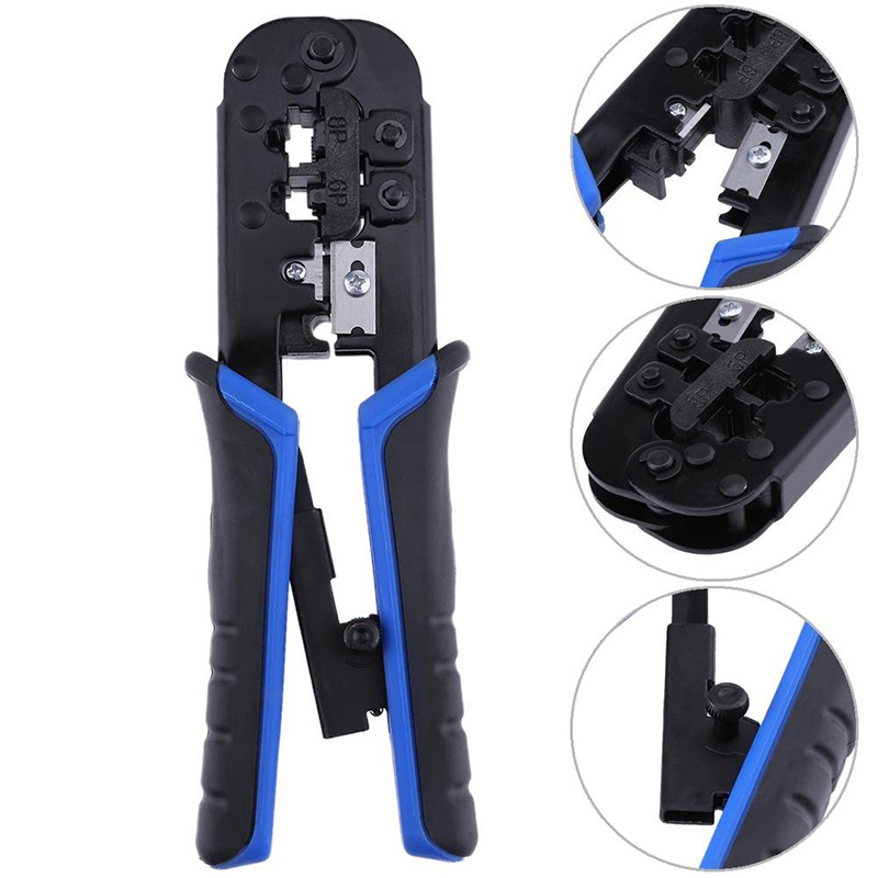 Hot Selling Telecom Crimping Pliers Tool Network Cable Ratchet Crimping Pliers For 4P 6P 8P RJ-11/RJ-12 RJ-45