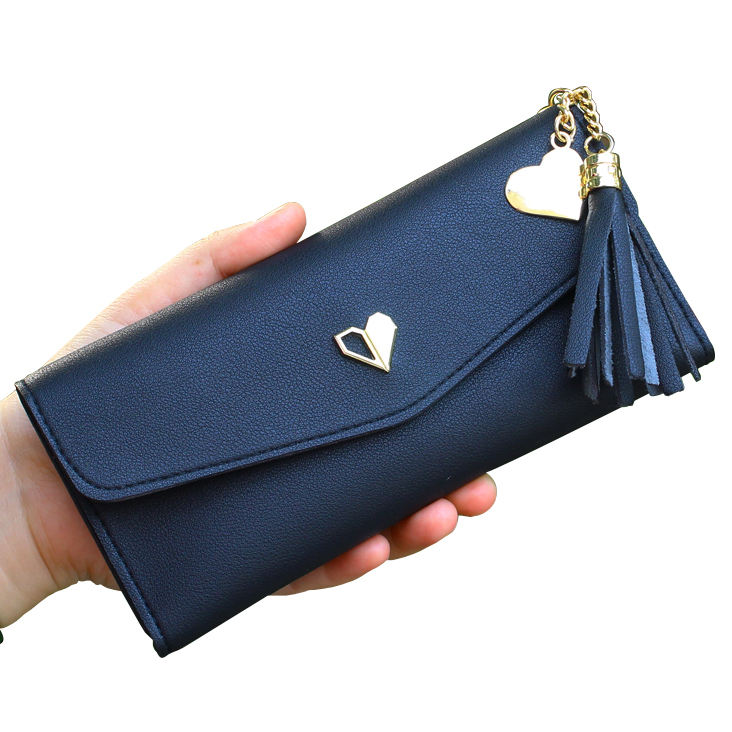 Women Wallets Lady Purses Long Money Bags Female Zippe Coin Purse Pocke Card ID Holder Clutch Envelope Bag Tassels Heart Wallet cute girl hasp small wallets women coin purses female coin bag lady cotton cloth pouch kids money mini bag children change purse