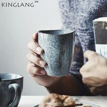 KINGLANG Japanese Style Ceramic Teacup Water Coffee Cup Tableware