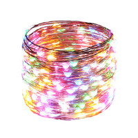 66FT 20M 200LEDs Copper Wire Fairy Starry Lights Halloween String Lights Touch Dimmable Decoration Party Lights + Adapter