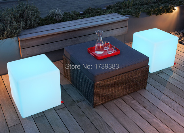 4pcs/lot 30CM led Furniture chair Magic Dice waterproof LED Remote controll square cube light for home/bar/nightclub/wedding