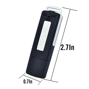 Image 2 - 2 in 1 Mini USB Pen 8GB 16GB Key Chain Digital Audio Voice Recorder 384KBPS A Key Recording 70hours Recording Black