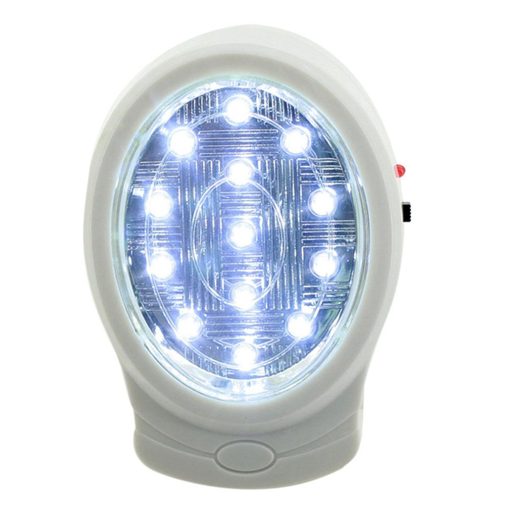 2W 13 LED Rechargeable Home <font><b>Emergency</b></font> <font><b>Light</b></font> Automatic Power Failure Outage Lamp <font><b>Bulb</b></font> Night <font><b>Light</b></font> 110-240V US Plug image
