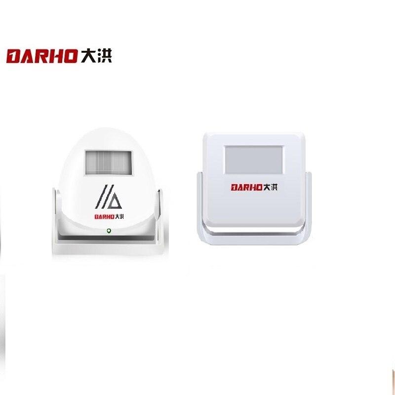 Darho Infrared Motion Sensor Alarm Wireless Intelligent Welcome Greeting Doorbell 10m Warning Doorbell Door Bell