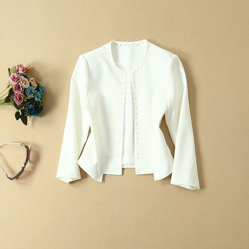 Top Grade Designer vêtements costumes automne ensembles femmes croix chaîne Cardigan vestes + sans manches moulante robe crayon rouge blanc dame - 5