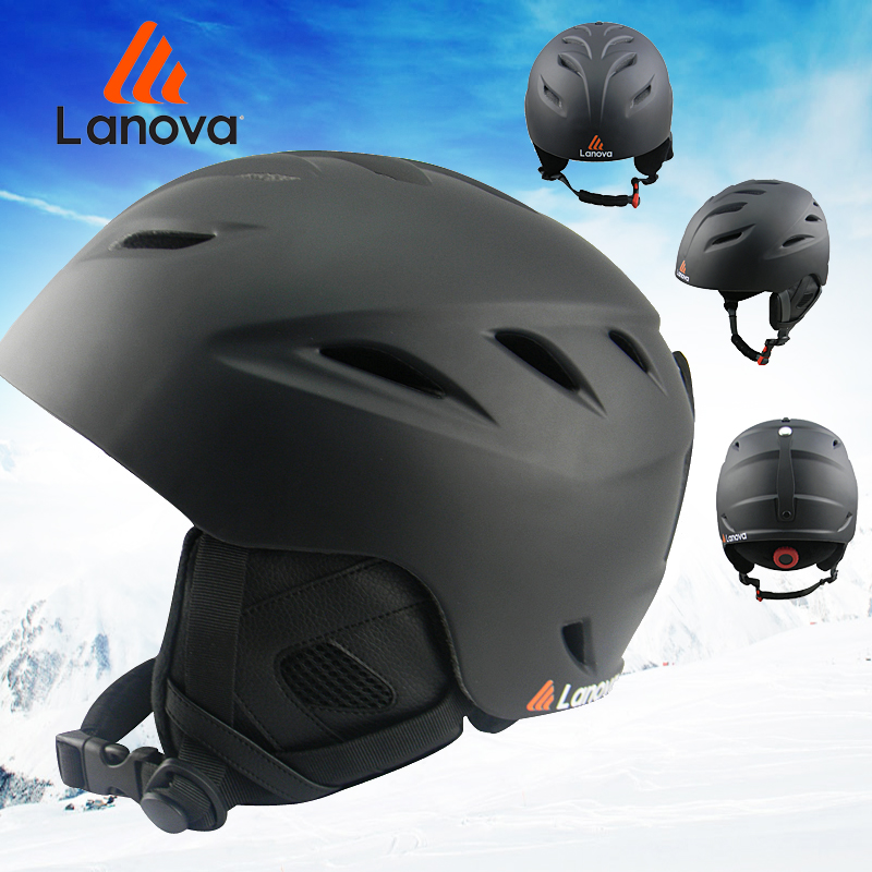 ФОТО LANOVA  Ski helmet Ultralight and Integrally-molded professional Snowboard helmet men Skating/Skateboard helmet Multi Color