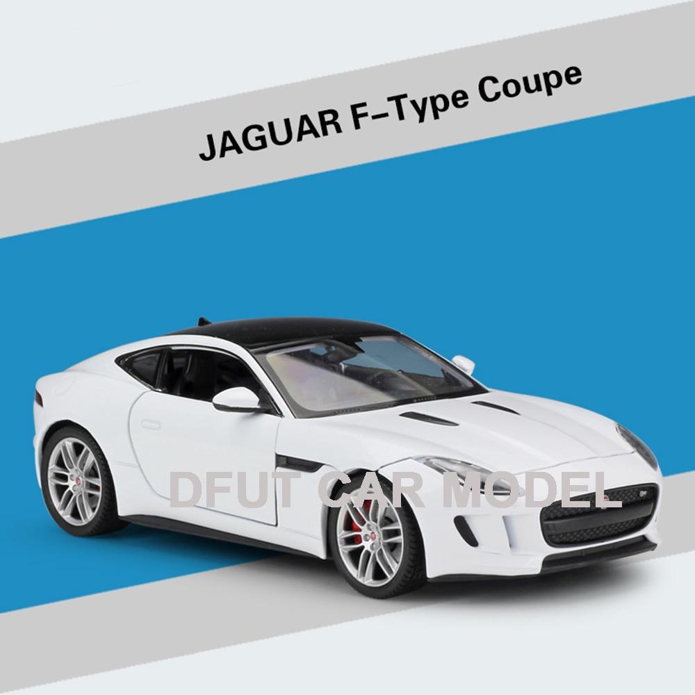 Taille 1:24 haute Simulation modèle jouet voiture métal JAGUAR f-type Coupe alliage classique voiture moulé sous pression voiture jouet pour garçons cadeaux Collection