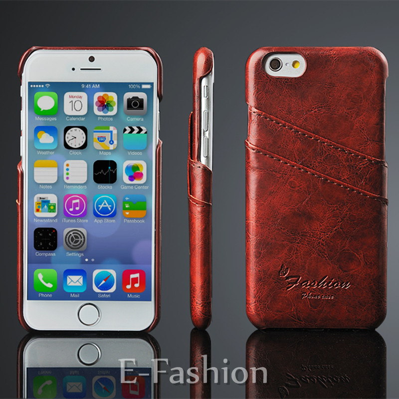 Business Style Luxury Leather Case For iPhone 6 6S 4.7inch Fashion Wallet Card Holder Cover For Iphone6 6s Plus 5.5inch