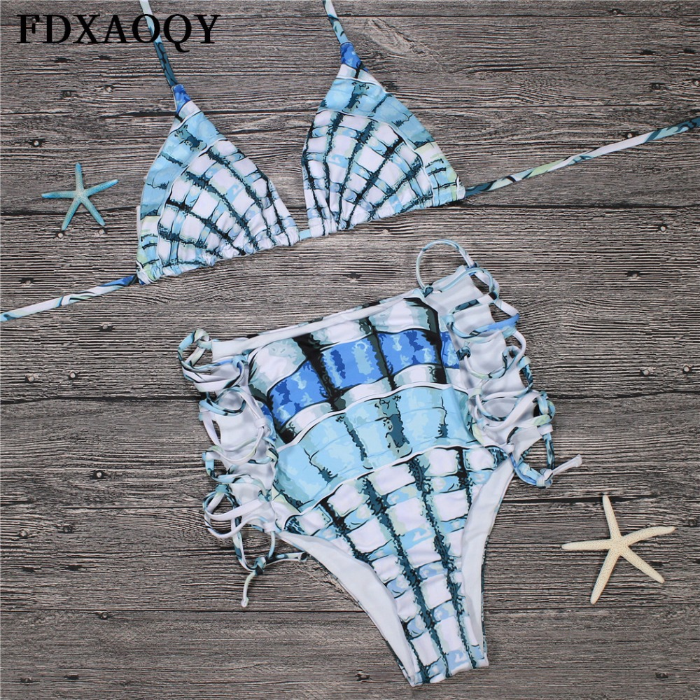 Halter Bathing Suit Push Up Sexy Bikini Set Bandage Swimsuit Swimwear Women String FDXAOQY 2018 NEW Arrive Padded Bra Beachwear 2016 bikini tanga summer style women sexy bandage push up biquinis padded bra bikini set swimsuit bathing suit swimwear
