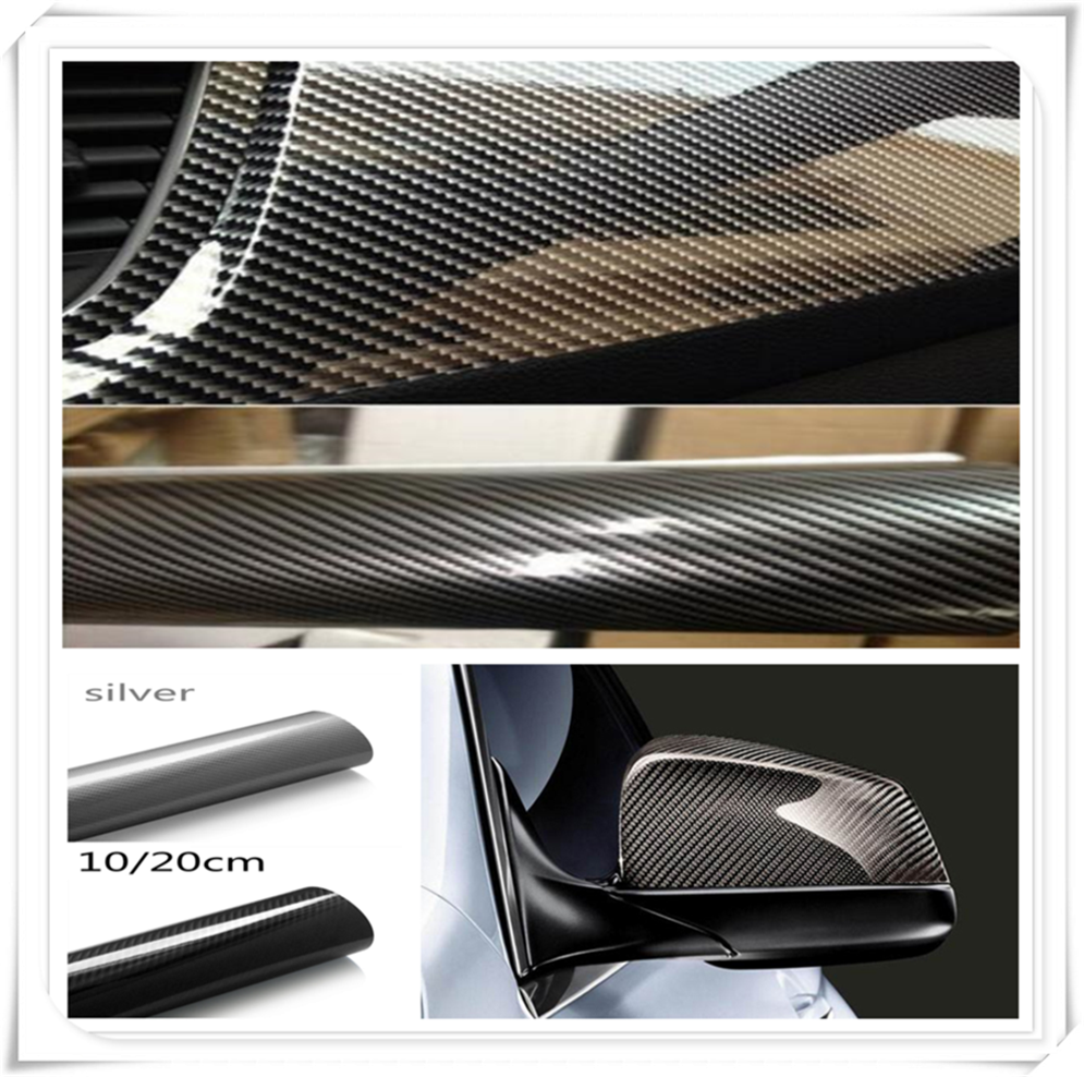 5D High Glossy Carbon Fiber Vinyl Film Car Styling Wrap <font><b>Accessories</b></font> FOR <font><b>Mercedes</b></font> Benz S550 <font><b>S500</b></font> IAA G500 ML F125 E550 E350 image