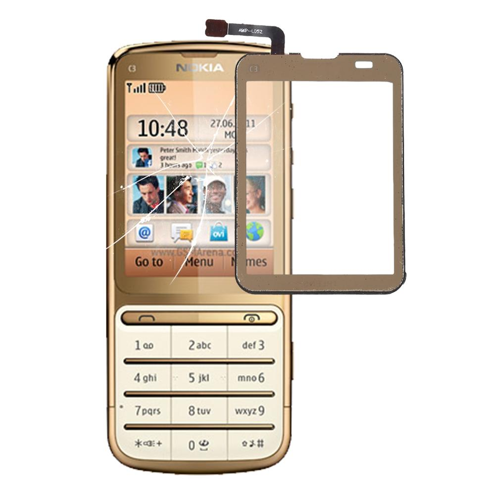 Touch Screen Touch Panel For Nokia C3-01 Touch Screen Digitizer Sensor Lens Front Glass  Replacement
