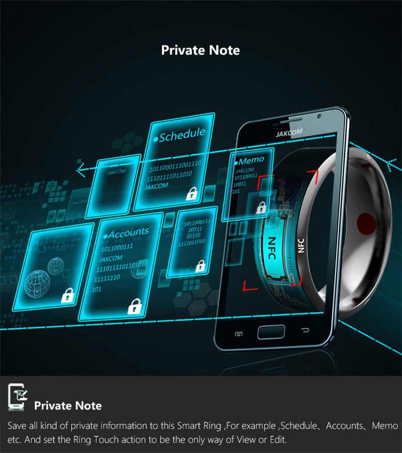 Jakcom R3 NFC חכם טבעת עבור אנדרואיד Windows NFC טלפון Dropshipping בקרת גישה כרטיסי חכם מנעולים תכליתי NFC טבעת