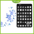 1 Unids/set BQAN Envío Libre Brillante Burbuja de Acero Inoxidable/Dibujos de Flores Nail Plate Estampación Kit MLS03