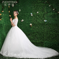 ZUOYITING 2017 Robe De Mariage Princess Bling Luxury Crystals White Ivory Ball Gown Wedding Dress Custom