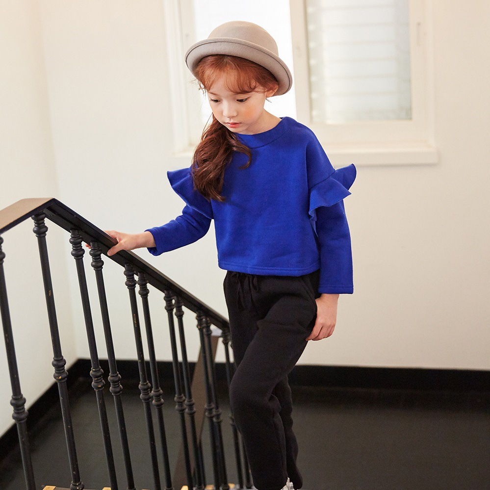 New Autumn Winter Girls T Shirt Long Sleeves Pink Blue Cotton Girls Baby Tees Tops Teenagers Fall School Clothes SY670 dunlop winter maxx wm01 205 65 r15 t