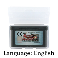32 Bit Video Game Cartridge Dynasty Warriors Advance Console Card EU Version English Language Support Drop shipping