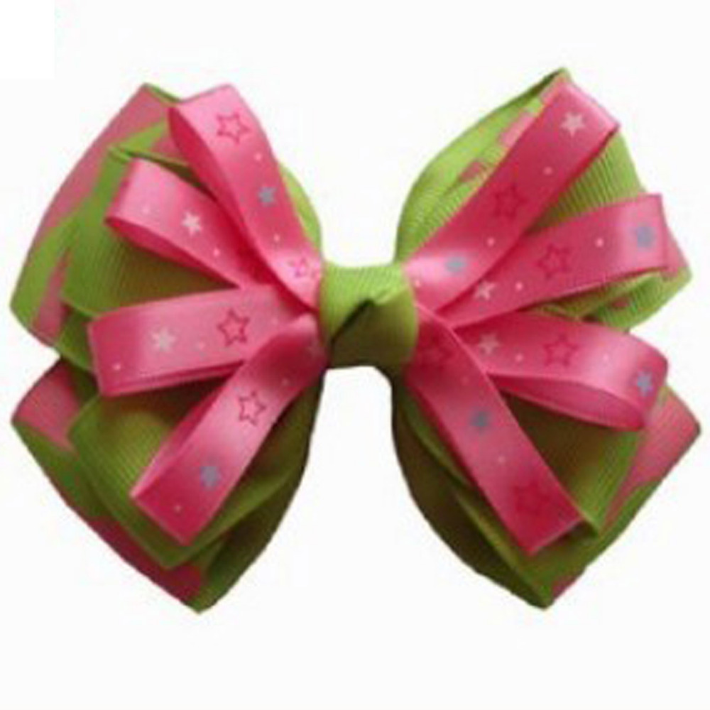 ФОТО Free Shipping New 50pcs Baby Small Hair Bow  Grosgrain Ribbon Hair Bows With Clip Hairbow For Toddler Girls Hair Accessories