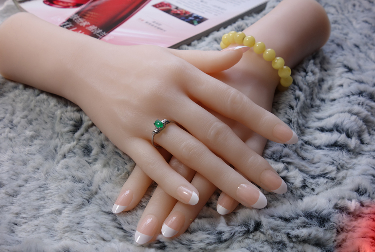 Liglamorous Luxury 1pair Women s Realistic Silicone Lifelike Soft hand Mannequin Display Ring Jewelry Nail Art