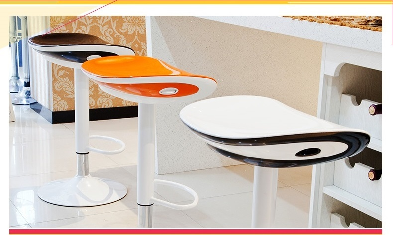 House bar lift chair Dining room living room kitchen stool free shipping retail wholesale black orange color free shipping dining stool bathroom chair wrought iron seat soft pu cushion living room furniture