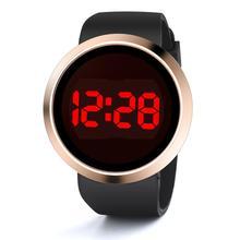 Модные водонепроницаемые зеркальные Мужские светодиодный цифровые спортивные силиконовые часы унисекс подарок модные часы для мужчин relogio masculino# D