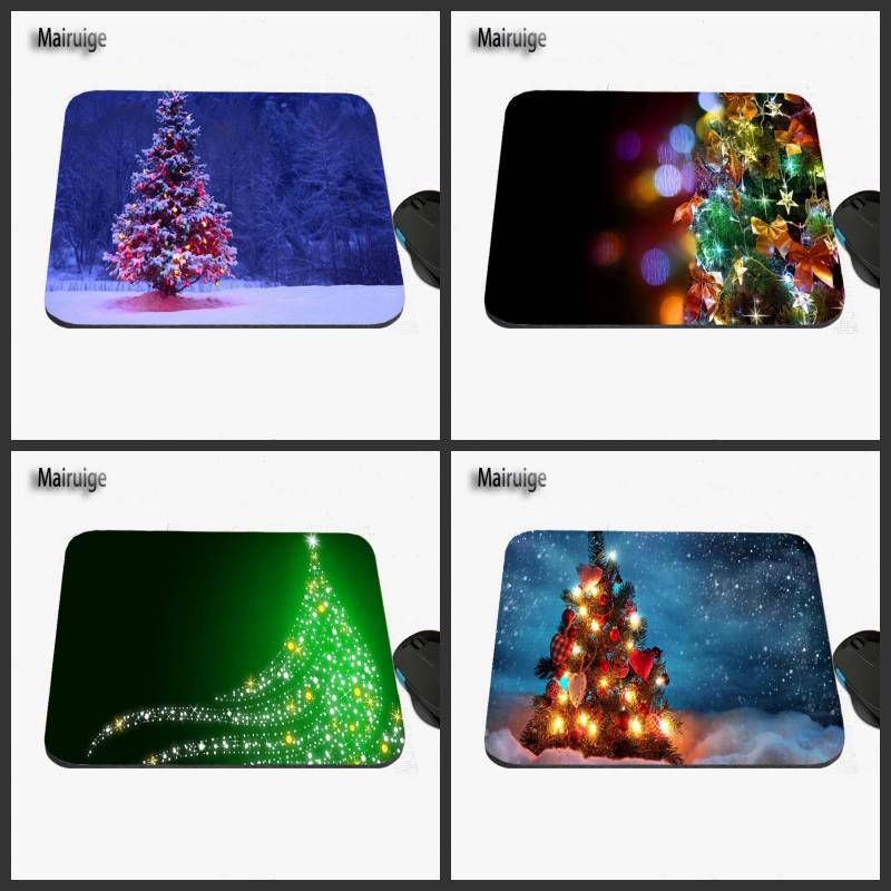 2017 Christmas Tree Art Custom Design, Anti-slide Game Mouse Mat, Rubber Rectangular Notebook Computer Mat, Decorate Desk