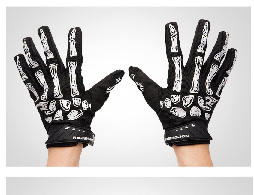 Yeni siyah Kafatası Pençe Eldiven Yarış Motosiklet Kemik İskelet - Spor Giyim ve Aksesuar - Fotoğraf 6