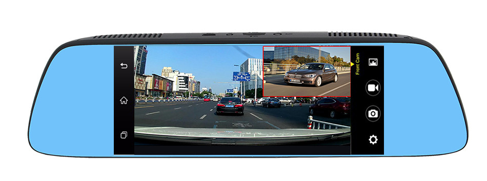 "Ruccess 7"" 3G Special Mirror Rearview Car DVR Camera DVRs Android 5.0 With GPS Navigation Automobile Video Recorder Dash Cam 26"