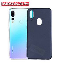 6.3 Soft Silicone Case for UMIDIGI A5 Pro Glossy Protective Back Cover Pudding Phone