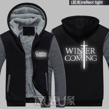 New Winter Jackets and Coats A Song of Ice and Fire House Targaryen hoodie Game of Thrones Hooded Thick Zipper Men Sweatshirts hot sale 216 autumn winter game of thrones sweatshirt men house stark mens thick jacket a song of ice and fire winter is coming