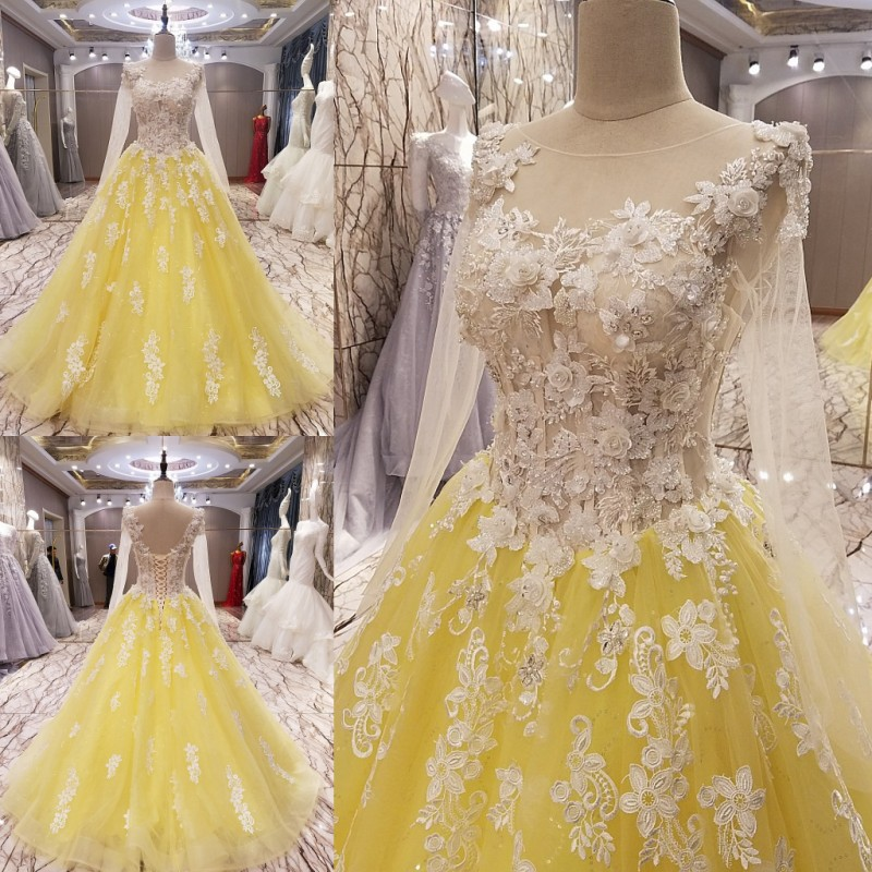 Custom Made 2017 New Design Ball Gown Tulle Lace Beading Luxury Long ...