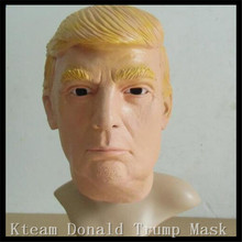 2016 Hot Adults Size New Donald Trump Mask Billionaire Presidential Latex Halloween Human Face Mask Costume Cosplay Man Gift Toy