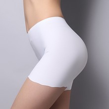 New Listest Women Seamless Ice Silk Panties High Waist Stretch Solid Safety Underwear Hot