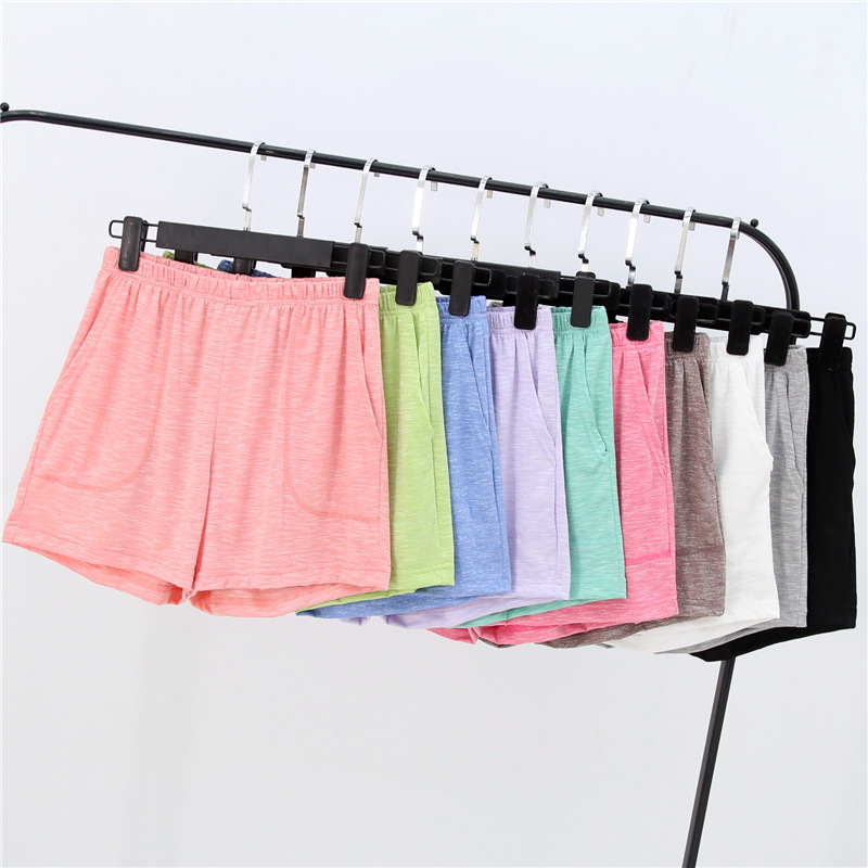 Summer Women Shorts Stretch Bamboo Cotton Pajama Pants Loose Living Clothes Solid Womens Bottoms Underwear Sleep Wear Pijama