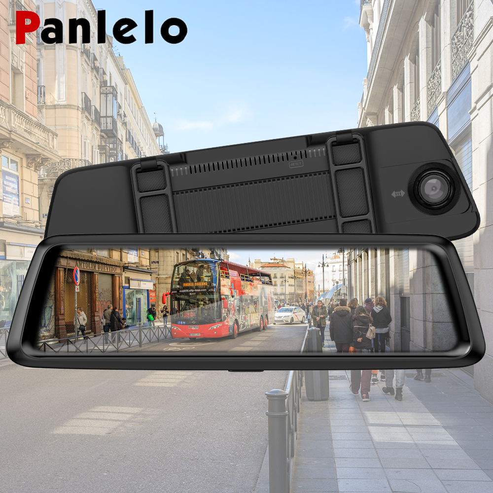 Panlelo Car DVR GPS Navigator Camera 3G /4G 10Android Stream Media Rear View Mirror FHD 1080P GPS Mirror GPS Dash Cam Recorder