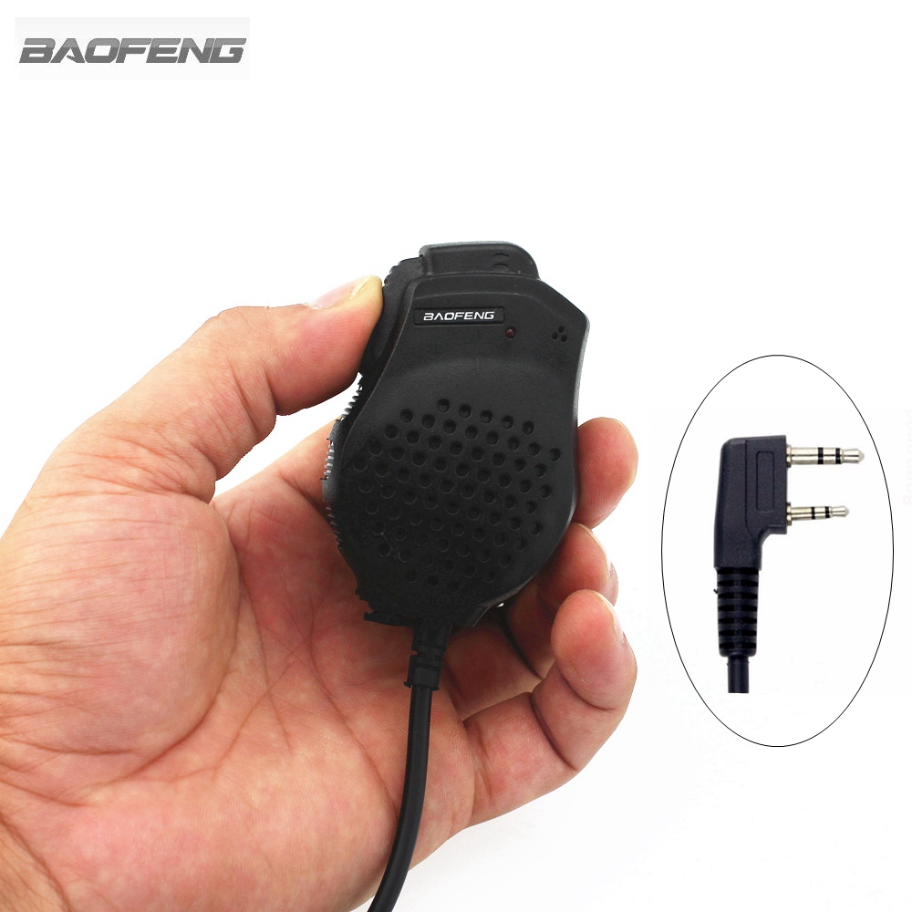 Baofeng Dual PTT Speaker Mic Microphone For Baofeng UV-82 Two Way Radio UV-82L UV-8D UV-89 UV-82HP Walkie Talkie Accessories